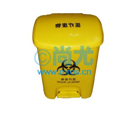 【黄色医用脚踏垃圾桶】-国产黄色医用脚踏垃圾桶