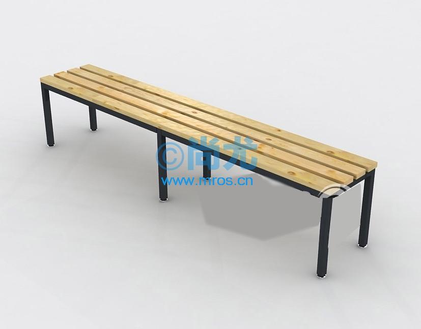 国产更衣室松木板条凳(l1000*w320*h420mm)图片